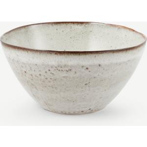Made.com Hai Reactive Glaze Large Serving Bowl, Stone Grey , Grey