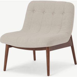 Made.com Halbert Accent Armchair, Oat Weave Natural, Natural