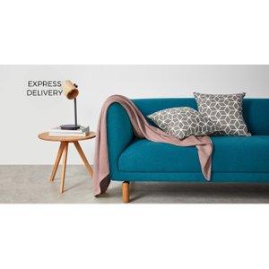 Made.com Healey Cotton Woven Throw 130 X 170cm, Dusky Pink , Pink