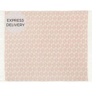 Made.com Hexa Wool Blend Throw, 130 X 170cm, Rose Pink , Pink