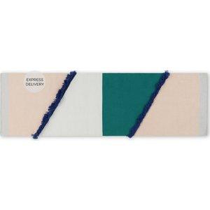 Made.com Innes Flat Woven Cotton & Wool Runner 66x200cm, Multi Multicoloured , Multicoloured
