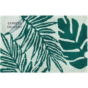 Made.com Jangala 100% Cotton Large Bath Mat, 60x90cm, Green , Green