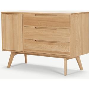 Made.com Jenson Compact Sideboard, Oak Light Wood, Light wood