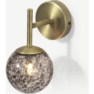 Made.com Julia Wall Lamp, Tortoiseshell Glass & Brass Brass,brown, Brass,Brown