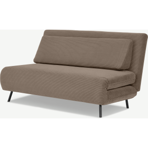 Made.com Kahlo Large Sofa Bed, Taupe Corduroy Velvet Natural, Natural