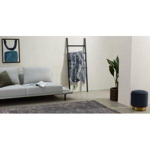 Made.com Larkin Cotton Throw, 125 X 170cm, Dark Blue