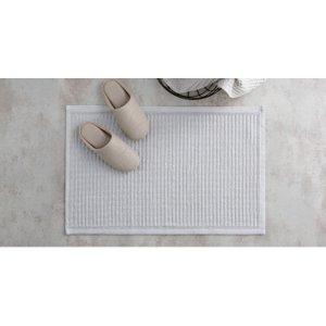 Made.com Laza 100% Cotton Bath Mat, 50x80cm, Silver Grey , Grey
