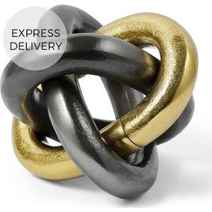 Made.com Linkii Decorative Chain Objet, Brass & Black, Brass