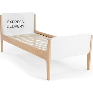 Made.com Linus Single Bed, Pine And White , White