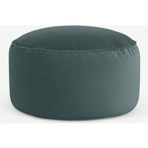 Made.com Lux Floor Cushion, Marine Green Velvet Teal, Teal
