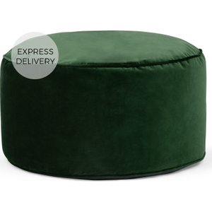 Made.com Lux Velvet Floor Cushion, Forest Green Velvet , Green