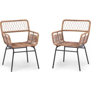 Made.com Lyra Garden Dining Chair Set, Charcoal Grey , Grey