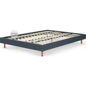 Made.com Made Essentials Besley Platform Double Bed, Aegean Blue , Blue