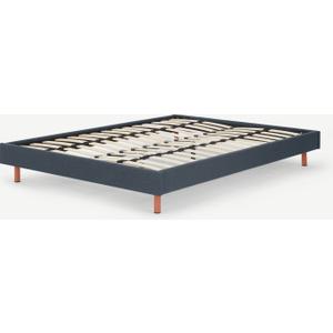 Made.com Besley Platform Double Bed, Aegean Blue, Blue