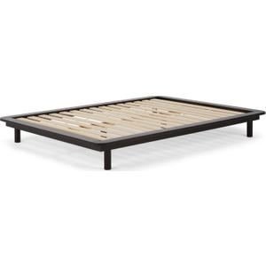 Made.com Made Essentials Kano Platform Double Bed, Black Stain Pine , Black