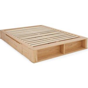 Made.com Made Essentials Kano Platform Super King Size Bed With Storage, Pine Light Wood