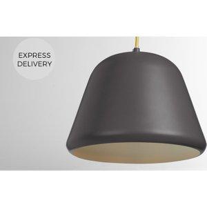 Made.com Made Essentials Taylor Pendant Light, Charcoal Grey , Grey