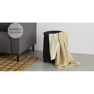 Made.com Made Essentials Tejas Woven Throw 130 X170cm, Mustard Yellow , Yellow