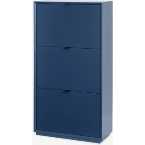 Made.com Marcell Double Shoe Storage Cabinet, Deep Blue, Blue