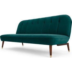 Made.com Margot Click Clack Sofa Bed, Velvet Seafoam Blue Teal, Teal