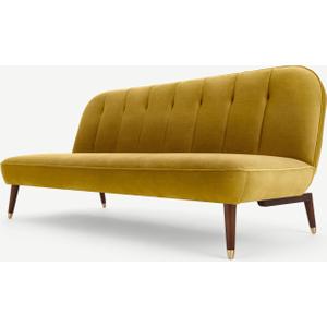 Made.com Margot Click Clack Sofa Bed, Vintage Gold Velvet, Gold