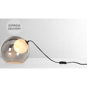 Made.com Masako Led Table Lamp,  Smoked And Opal Glass Grey,white
