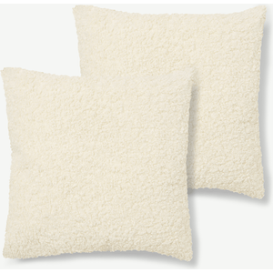 Made.com Mirny Set Of 2 Boucle Cushions, 55 X 55cm, Off-white, White