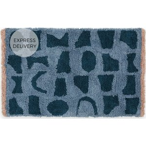 Made.com Olga 100% Cotton Bath Mat, 50x80cm, Multi Grey, Grey