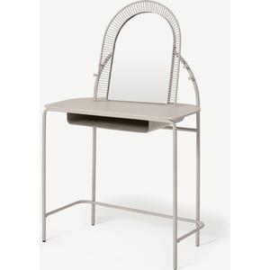 Oving Metal Dressing Table, Warm Ecru Tables, Beige