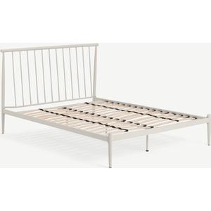 Made.com Penn Double Bed, Warm Ecru Metal Beige, Beige