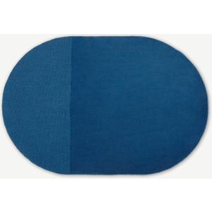 Made.com Ronda Wool Pile Rug, Medium 140x200cm, Blue , Blue