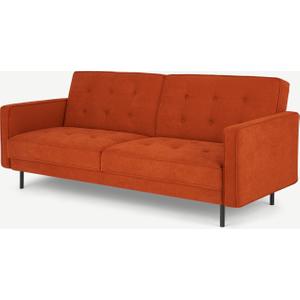 Made.com Rosslyn Click Clack Sofa Bed, Sedona Orange, Orange