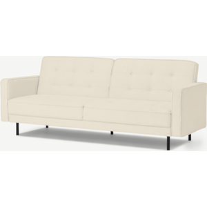 Made.com Rosslyn Click Clack Sofa Bed, Whitewash Boucle, White