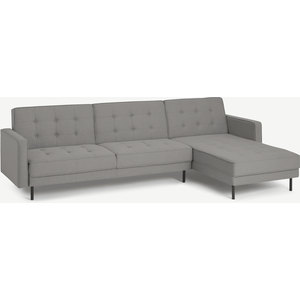 Made.com Rosslyn Right Hand Facing Chaise End Click Clack Sofa Bed, Cinder Grey, Grey