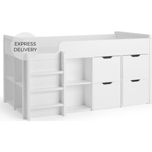 Made.com Rubix Cabin Bed With Door Storage, White , White