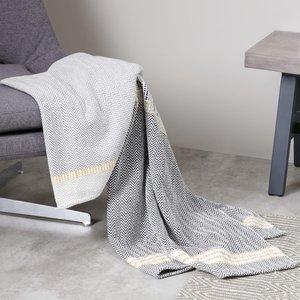 Made.com Ryker Cotton Woven Throw 130 X 170cm, Grey Multi Grey,multicoloured, Grey,Multicoloured