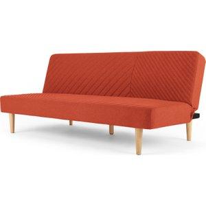 Made.com Ryson Click Clack Sofa Bed, Retro Orange , Orange