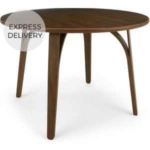 Made.com Safia 4 Seat Round Dining Table, Walnut Dark Wood , Dark Wood
