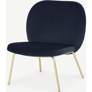 Safia Accent Armchair, Royal Blue Velvet Chairs, Blue