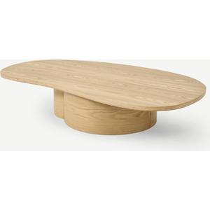 Made.com Sharma Organic Coffee Table, Oak Finish Light Wood, Light wood
