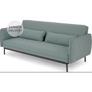 Made.com Shay Click Clack Sofa Bed, Tarragon Green Blue , Blue