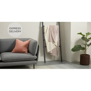 Made.com Sojo Graded Cotton Blend Throw 130 X 170cm, Rose Pink