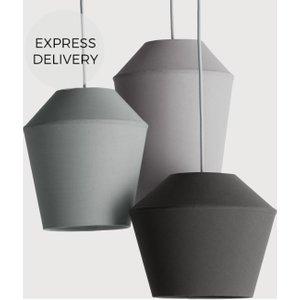 Made.com Tuli Cluster Pendant Light, Tonal Grey , Grey
