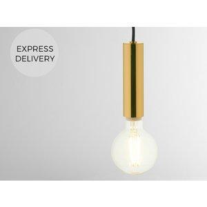 Made.com Zane Pendant Light, Brass, Brass
