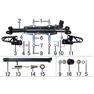 M2r Kx110f Pit Bike Foot Peg Fitment Bar