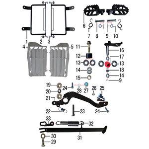 M2r M1 250cc Dirt Bike Rhs Radiator Shroud