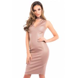 Forever Unique Izzy Bodycon Dress - Nude - 10
