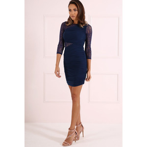 Forever Unique Tess Bodycon Dress - Navy - 14