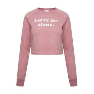 Hype Leave Me Crop Crew Sweatshirt - Pink - 6