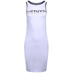 Hype Split Logo Sports Dress - White/black - 6